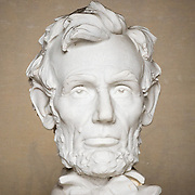 Close-up of the statue of President Abraham Lincoln that sits in the Lincoln Memorial in Washington DC.