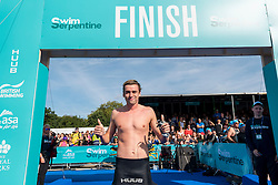 © Licensed to London News Pictures. 24/09/2016. London, UK. Rio 2016 Olympian, Jack Burnell, is one of the participants taking part in the first ever Swim Serpentine, held in the famous lake in Hyde Park.  Raising thousands for charity and with water temperatures of 18C, swimmers navigate the one mile clockwise route around the lake.  The two-day open water swimming festival includes the British Open Water Swimming Championships on Sunday. Photo credit : Stephen Chung/LNP
