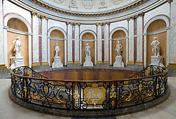 Grand staircase inside famous Bode Museum on Museumsinsel Muuseum Island in central Berlin Germany 2008