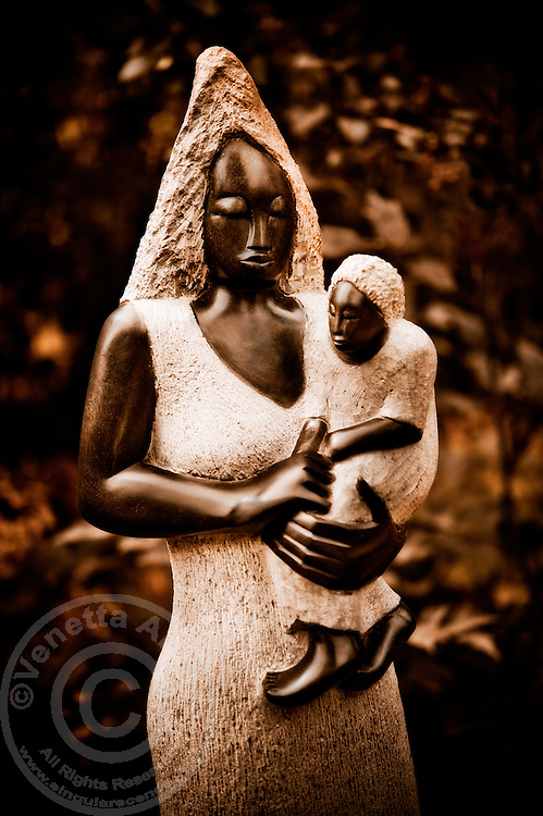 Zimsculpt at Van Dusen Botanical Garden: Growing Up Quickly - springstone sculpture by Brian Watyoka (original sculpture available at www.zimsculpt.com)