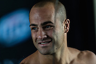 LONG BEACH, CALIFORNIA, OCTOBER 31, 2013: Eddie Alvarez works out on the mats ahead inside the Long Beach Convention Center & Arena, California, ahead of their fight at Bellator CVI (© Martin McNeil)