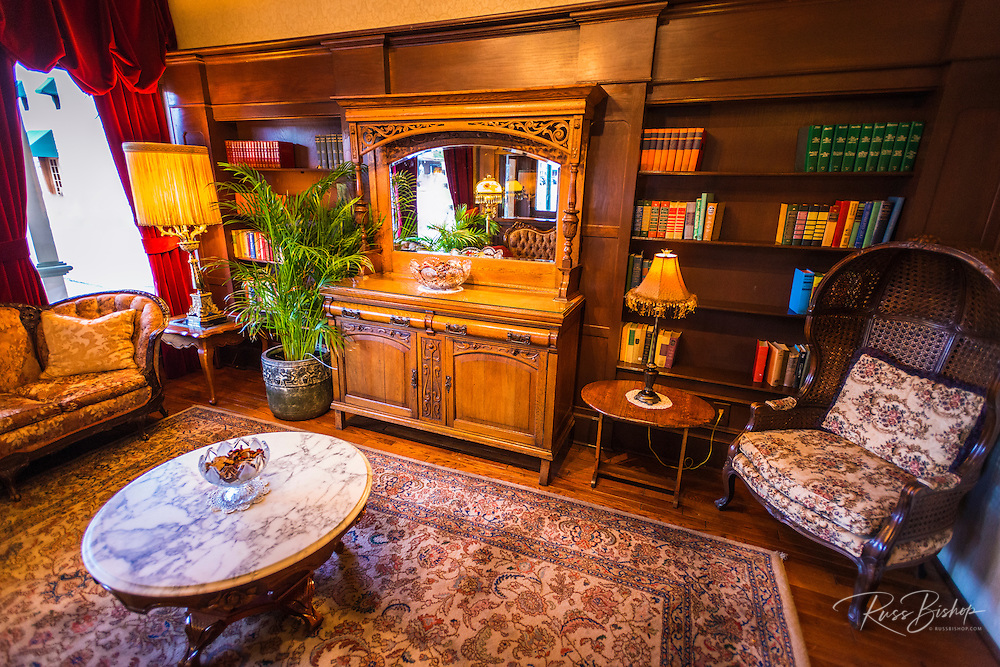 Reading room at the General Palmer Hotel, Durango, Colorado USA