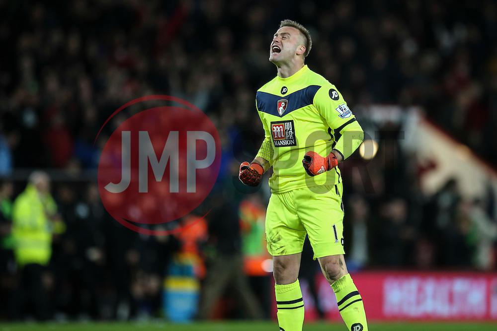 Artur Boruc of Bournemouth celebrates Bournemouth win over Manchester United 2-1 - Mandatory by-line: Jason Brown/JMP - Mobile 07966 386802 12/12/2015 - SPORT - FOOTBALL - Bournemouth, Vitality Stadium - AFC Bournemouth v Manchester United - Barclays Premier League