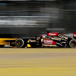 F1 Australian Grand Prix 15 March 2013 Practice Session 2.Practice Session 2. Kimi Raikkonen Lotus turn 7.(c) MILOS LEKOVIC | StockPix.eu