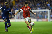 Barnsley FC Captain Alex Mowatt on the attack during the EFL Sky Bet Championship match between Barnsley and Huddersfield Town at Oakwell, Barnsley, England on 11 January 2020.