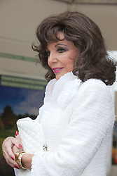 © Licensed to London News Pictures. 21/05/2012. London, England. Actress Joan Collins at the RHS Shop. RHS Chelsea Flower Show 2012 - Press Day. Photo credit: Bettina Strenske/LNP