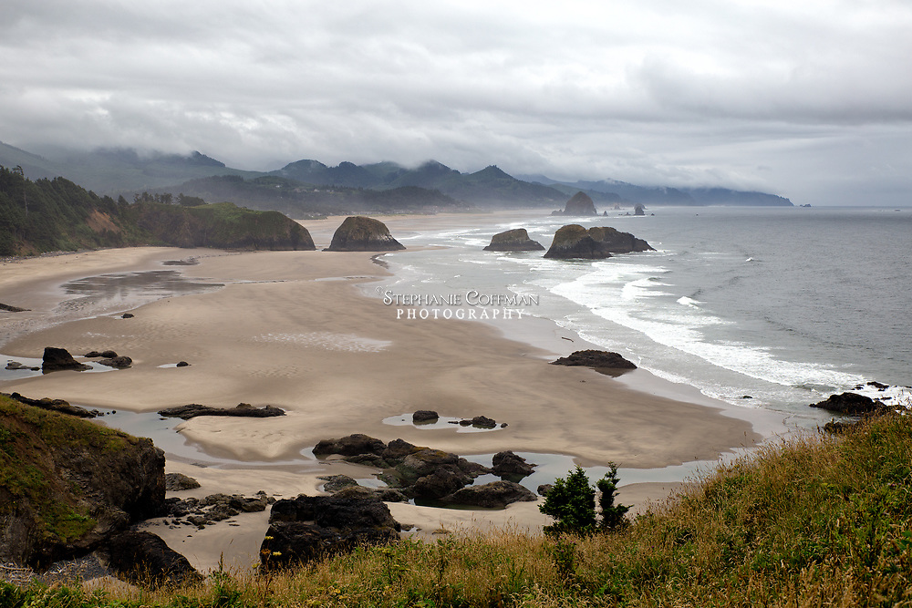 Overlooking Crescent Beach from Ecola Point along the Pacific Coast, Oregon, USA