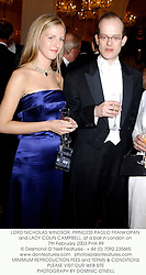 LORD NICHOLAS WINDSOR, PRINCESS PAOLO FRANKOPAN and LADY COLIN CAMPBELL, at a ball in London on 7th February 2003.PHA 89