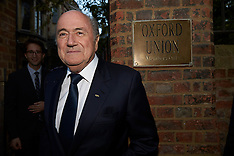 OCT 26 2013 Sepp Blatter Oxford Union