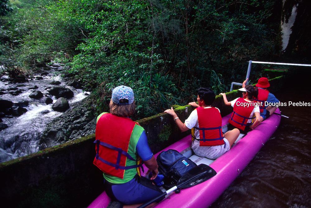 Kayaking, Kohala Ditch, Island of Hawaii<br />