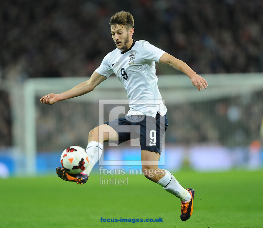 Picture by Daniel Hambury/Focus Images Ltd +44 7813 022858<br /> 15/11/2013<br /> Adam Lallana of England during the Friendly match at Wembley Stadium, London.