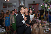 RONNIE WOOD; KATE MOSS, Heather Kerzner and Marie Curie Cancer Care fundraising dinner,  Claridge's. London.