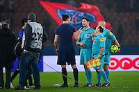Zlatan IBRAHIMOVIC / Tony CHAPRON - 20.03.2015 - Paris Saint Germain / Lorient - 30e journee Ligue 1<br />Photo : Dave Winter / Icon Sport