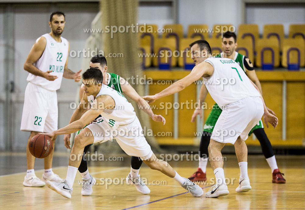 Zan Mark Sisko of Ilirija during basketball match between KK Ilirija and KK Petrol Olimpija in 10th Round of Nova KBM Basketball League 2017/18, on December 17, 2017 in Hala Tivoli, Ljubljana, Slovenia. Photo by Vid Ponikvar / Sportida