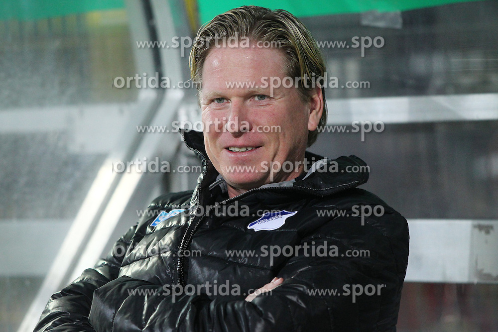 03.03.2015, Scholz Arena, Aalen, GER, DFB Pokal, VfR Aalen vs TSG 1899 Hoffenheim, Achtelfinale, im Bild Trainer Markus Gisdol ( TSG 1899 Hoffenheim ) // during German DFB Pokal last sixteen match between VfR Aalen and TSG 1899 Hoffenheim at the Scholz Arena in Aalen, Germany on 2015/03/03. EXPA Pictures &copy; 2015, PhotoCredit: EXPA/ Eibner-Pressefoto/ Langer<br /> <br /> *****ATTENTION - OUT of GER*****
