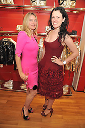 Left to right, ANGIE KURDASH and KATIE GRAND at a party in aid of the charity Best Buddies held at the Hogan store, 10 Sloane Street, London SW10 on 13th May 2009.