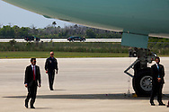 CAPE CANAVERAL, FL -  APRIL 15:  United States President Barack Obama's limo begins his tour of Kennedy Space Center after landing in Air Force One at the shuttle landing facility April 15, 2010 in Cape Canaveral. Obama was holding a summit to discuss the future of the space program. (Photo by Matt Stroshane/Getty Images)