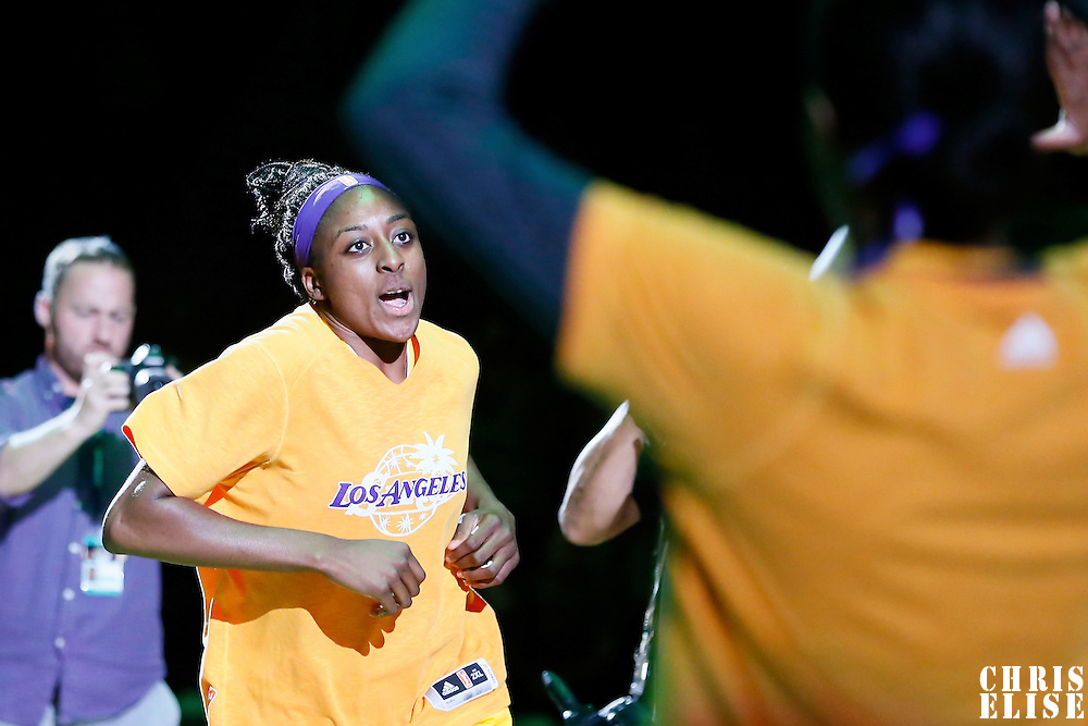 03 August 2014:  Los Angeles Sparks forward Nneka Ogwumike (30) is seen during the players introduction prior to the Los Angeles Sparks 70-69 victory over the Connecticut Sun, at the Staples Center, Los Angeles, California, USA.