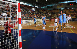 Goalkeeper of Slovenia Gorazd Skof at  handball game between men national teams of Slovenia and Slovakia, first qualification game for the World Chamionship 2009, on June 7, 2008, in Arena Zlatorog, Celje, Slovenija. Result: 33 : 33. (Photo by Vid Ponikvar / Sportal Images)