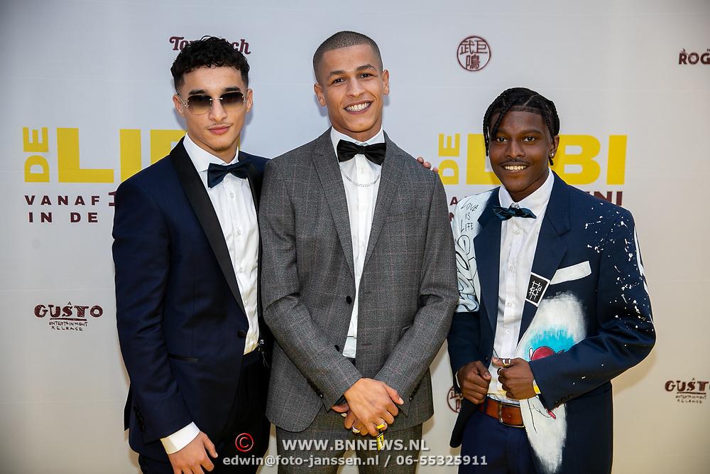 NLD/Amsterdam/20190605 - Premiere De Libi, hoofdrolspelers Bilal El Mehdi Wahib, Oussama Ahammoud en Daniël Kolf