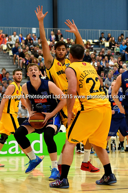 Giants player Finn Delany during their NBL Basketball game between the Nelson Giants v Taranaki Mountain Airs. Saxton Stadium, Nelson, New Zealand. Saturday 18 April 2015. Copyright Photo: Chris Symes / www.photosport.co.nz