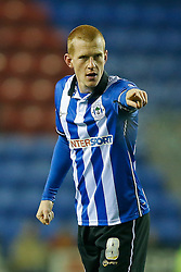 Ben Watson of Wigan points - Photo mandatory by-line: Rogan Thomson/JMP - 07966 386802 - 30/12/2014 - SPORT - FOOTBALL - Wigan, England - DW Stadium - Wigan Athletic v Sheffield Wednesday - Sky Bet Championship.