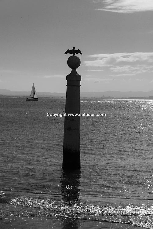 Portugal. Lisbon. the seaside in front of Praca do commercio