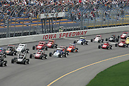 05 MAY 2007: The middle of the field for the sprint car race at the Casey's General Stores USAC Triple Crown at the Iowa Speedway in Newton, Iowa on May 5, 2007.