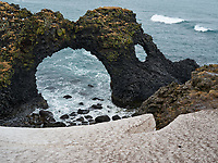 Gatklettur Arch at Arnarstapi. Snæfellsnes Peninsula, West Iceland.
