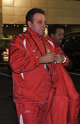 O técnico Abel Braga e a equipe do S.C. Internacional, chegam para treinar em Tókio, Japão. FOTO: Jefferson Bernardes/Preview.com