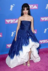 Camila Cabello arriving at the MTV Video Music Awards 2018, Radio City, New York. Photo credit should read: Doug Peters/EMPICS