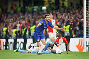 Chelsea FC forward Pedro (11) celebrates the fourth goal 4-1 during the Europa League quarter-final, leg 2 of 2 match between Chelsea and Slavia Prague at Stamford Bridge, London, England on 18 April 2019.