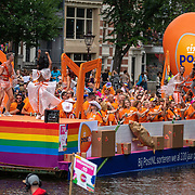 NLD/Amsterdam/20190803 - Gaypride 2019, PostNL boot