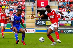 Semi Ajayi of Rotherham United controls the ball - Mandatory by-line: Ryan Crockett/JMP - 11/08/2018 - FOOTBALL - Aesseal New York Stadium - Rotherham, England - Rotherham United v Ipswich Town - Sky Bet Championship