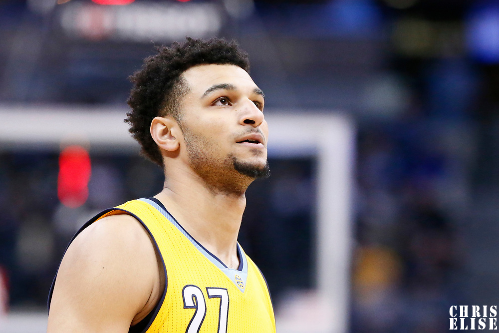 04 March 2017: Denver Nuggets guard Jamal Murray (27) rests during the Charlotte Hornets 112-102 victory over the Denver Nuggets, at the Pepsi Center, Denver, Colorado, USA.