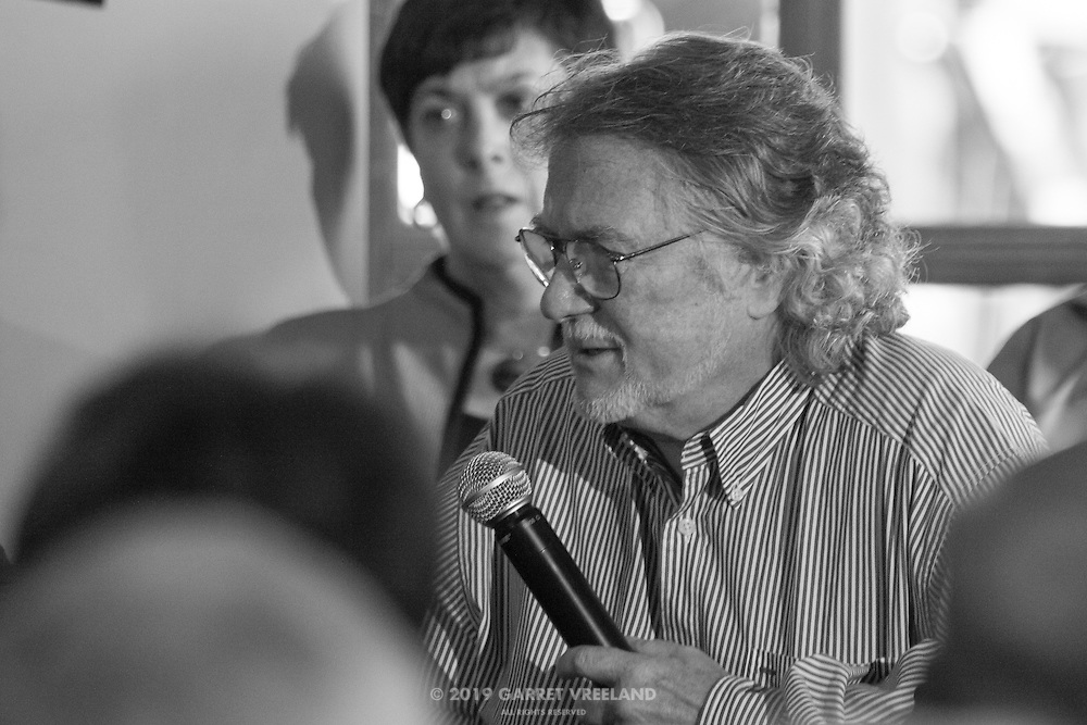 Tim Considine as MC, Legends of Racing lecture at the Las Campanas Clubhouse, 2013 Santa Fe Concorso.