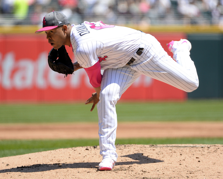 CHICAGO - MAY 14:  Jose Quintana #62 of the Chicago White Sox pitches against the San Diego Padres on May 14, 2017 at Guaranteed Rate Field in Chicago, Illinois.  The White Sox defeated the Padres 9-3 .  (Photo by Ron Vesely)  Subject: Jose Quintana
