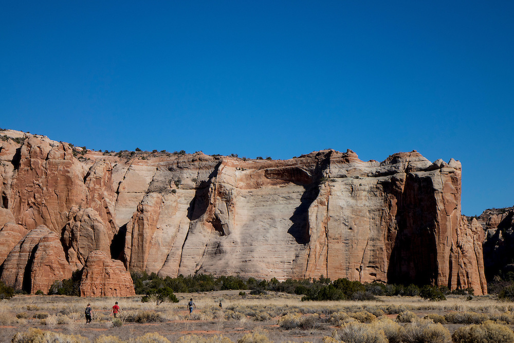 Hiking in Cathedral Canyon near the Arizona Border