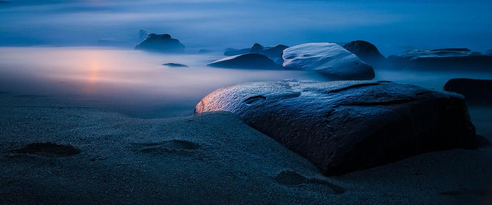 Sunset on La Jolla Beach - San Diego, California
