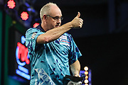 Ian White after his 1st round victory over Raymond van Barneveld during the PDC Darts Players Championship at  at Butlins Minehead, Minehead, United Kingdom on 24 November 2017. Photo by Shane Healey.