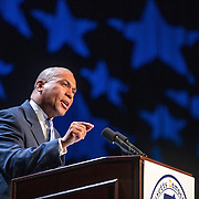 07/13/2013  LOWELL, MA    Governor Deval Patrick (cq) speaks during the 2013 Massachusetts Democratic Party Platform Convention (cq) held at the Tsongas Center (cq) at UMass Lowell. (Aram Boghosian for The Boston Globe)