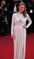 Actress Jessica Chastain at the 'Cleopatra' gala screening at the Cannes Film Festival  Tuesday 21 May 2013
