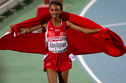 Elvan Abeylegesse of Turkey wins gold in the Womens 10000m Final during day two of the 20th European Athletics Championships at the Olympic Stadium on July 28, 2010 in Barcelona, Spain.  (Photo by Vid Ponikvar / Sportida)