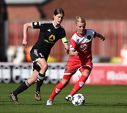Bristol Academy's Sophie Ingle in action during the UEFA Women's Champions League match between Bristol Academy Women and FFC Frankfurt at Ashton Gate on 21 March 2015 in Bristol, England - Photo mandatory by-line: Paul Knight/JMP - Mobile: 07966 386802 - 21/03/2015 - SPORT - Football - Bristol - Ashton Gate Stadium - Bristol Academy v FFC Frankfurt - UEFA Women's Champions League