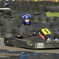 St Johnstone Manager Steve Lomas takes his players Go-Karting....<br /> Lee Croft races his go-kart<br /> Picture by Graeme Hart.<br /> Copyright Perthshire Picture Agency<br /> Tel: 01738 623350  Mobile: 07990 594431