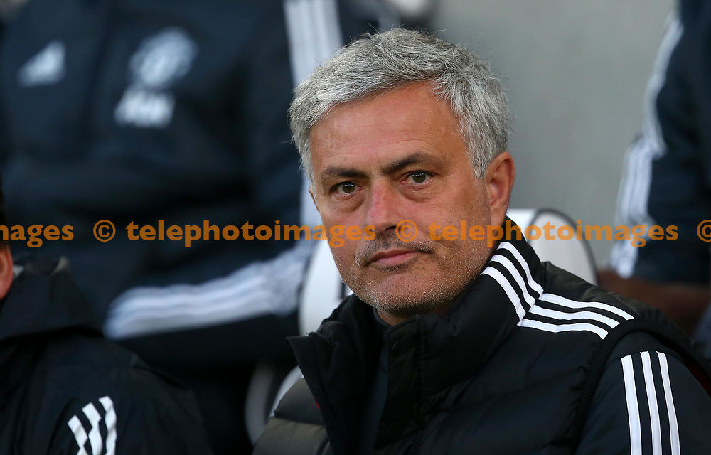 Manchester United's manager Jose Mourinho during the Premier League match between Brighton and Hove Albion and Manchester United at the American Express Community Stadium in Brighton and Hove. 04 May 2018