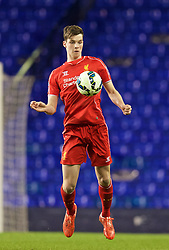 LONDON, ENGLAND - Friday, April 17, 2015: Liverpool's Sam Hart in action against Tottenham Hotspur during the Under 21 FA Premier League match at White Hart Lane. (Pic by David Rawcliffe/Propaganda)