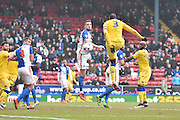 Leeds United Defender, Souleymane Bamba scores during the Sky Bet Championship match between Blackburn Rovers and Leeds United at Ewood Park, Blackburn, England on 12 March 2016. Photo by Mark Pollitt.