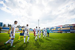 Players of NK Domzale during football match between NK Celje and NK Domžale in 27th Round of Prva Liga Telekom Slovenije 2016/17, on April 1, 2017 in Arena Petrol, Celje, Slovenia. Photo by Ziga Zupan / Sportida