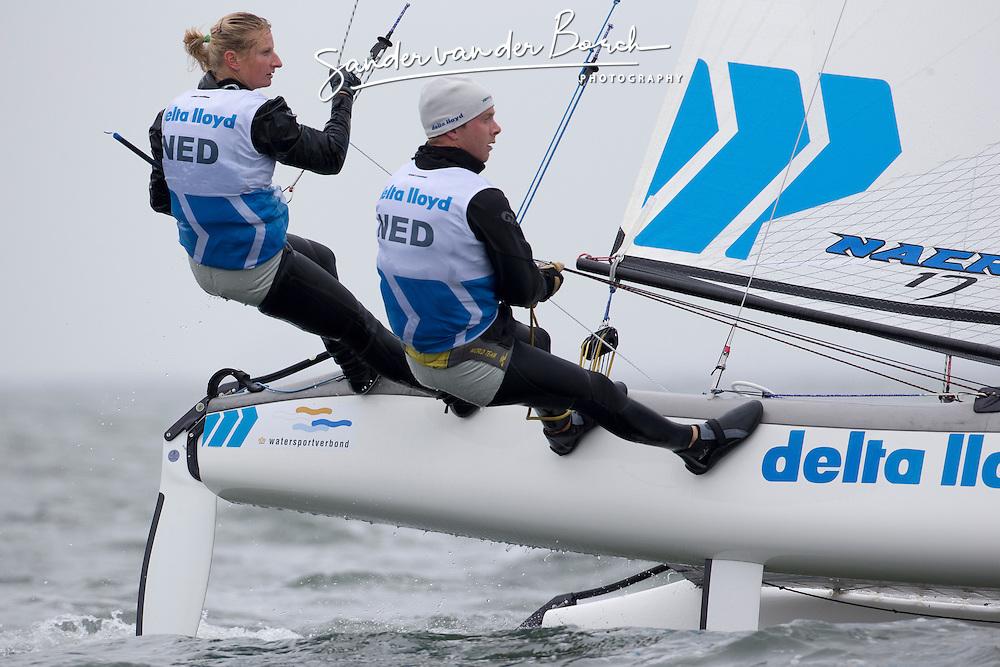 Second day of the Delta Lloyd North Sea Regatta, Scheveningen, the Netherlands, May 18th 2013.
